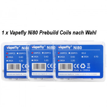 Prebuilt Coil Ni80 100 Stück by Vapefly