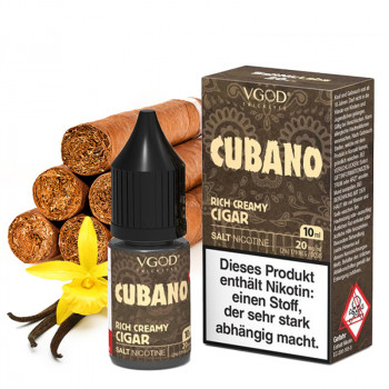Cubano Saltnic 20mg 10ml NicSalt Liquid by VGOD