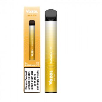 Vozol Bar 500 E-Zigarette 500 Züge 400mAh NicSalt Banana Ice