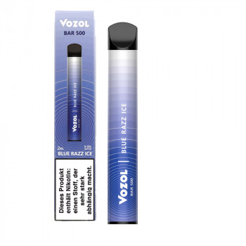 Vozol Bar 500 E-Zigarette 500 Züge 400mAh NicSalt Blue Razz ICE