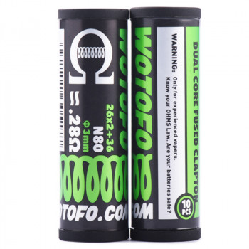Wotofo Dual Core Fused Clapton Prebuilt Wire 0,28 Ohm 10er Pack Fertigwickelung