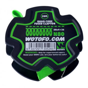 Wotofo Dual Core Fused Clapton Wire 20 feet/spool Wickeldraht