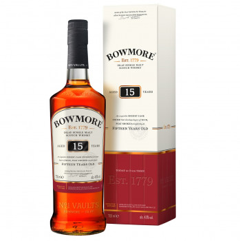 Bowmore 15 Jahre Islay Single Malt Scotch Whisky 43%Vol. 700ml