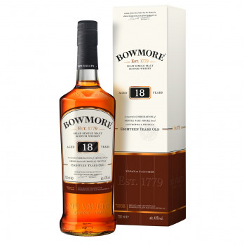 Bowmore 18 Jahre Islay Single Malt Scotch Whisky 43%Vol. 700ml