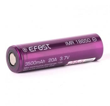 Efest Purple IMR 18650 3500mAh 3,6V - 3,7V Li-Ionen (FlatTop) ungeschützt