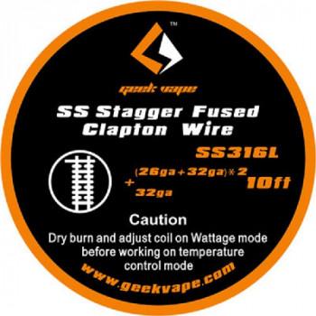 GeekVape Staggered Fused Clapton SS316L Wickeldraht (3,30€/1m)