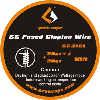 Geekvape Wickeldraht Fused Clapton SS316L A1 28GA*2/30GA 3m (3,30€/1m)