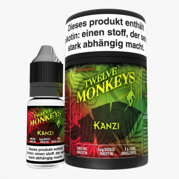 Twelve Monkeys Kanzi 3x10ml Multipack e Liquid MHD Ware